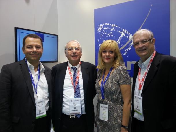 De gauche à droite François Piot, Jean Korcia, (président) Isabelle Cordier et Francis Gallo, vice-président