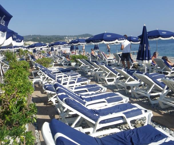Un audit sur les seules plages concédées de Nice, Cannes, Antibes et Cagnes sur Mer, constate que ces plages réalisent un chiffre d'affaires annuel de près de 100 M€ et emploient 1400 salariés. - DR