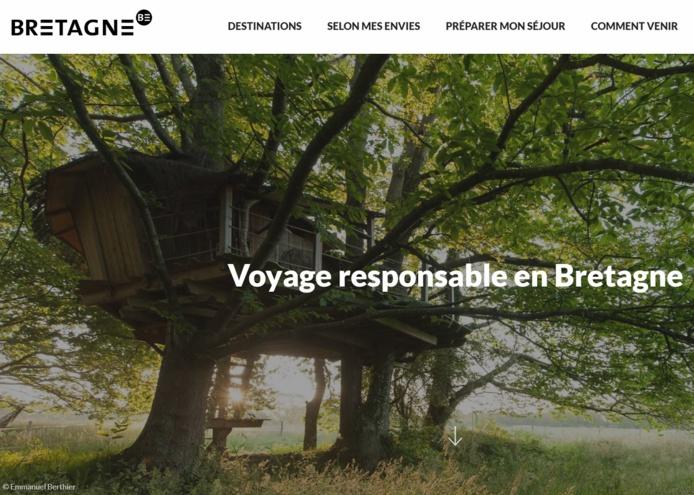 Le CRT Bretagne a fourni aux professionnels bretons un kit de communication qui permet de capter, d'interpeller et de sensibiliser le visiteur aux écogestes - DR : CRT Bretagne