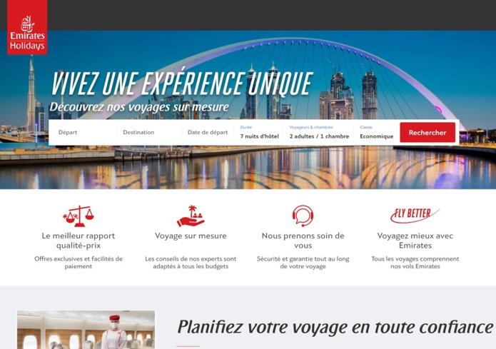 Pour déployer cette nouvelle offre, la compagnie s'est associée à PerfectStay - DR : Emirates Holidays