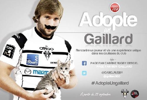 Le jeu-concours Adopte un Gaillard offre la possibilité de rencontrer des joueurs du club de rugby de Brive - DR