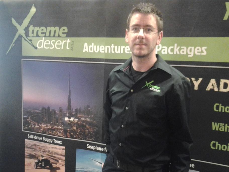 Gwenaël Payen était présent à Top Resa pour représenter Xtreme Desert - Photo D.B.
