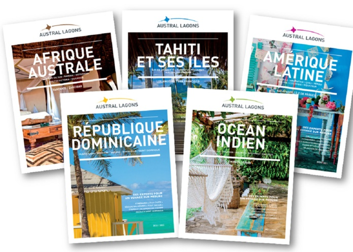 Austral Lagons vient de faire paraître ses 5 brochures dont la nouvelle dédiée à la République Dominicaine. Le Tour-opérateur est fin prêt pour la reprise - DR Photo Austral Lagons