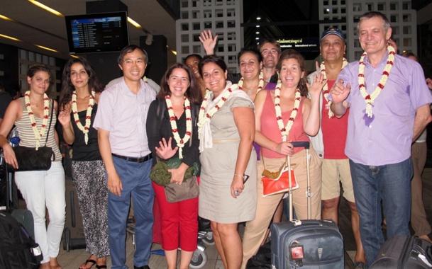 La délégation française menée par Dominique Prince de Vietnam Airlines, avec à ses côtés M. Le Dung, DG Europe de la Compagnie