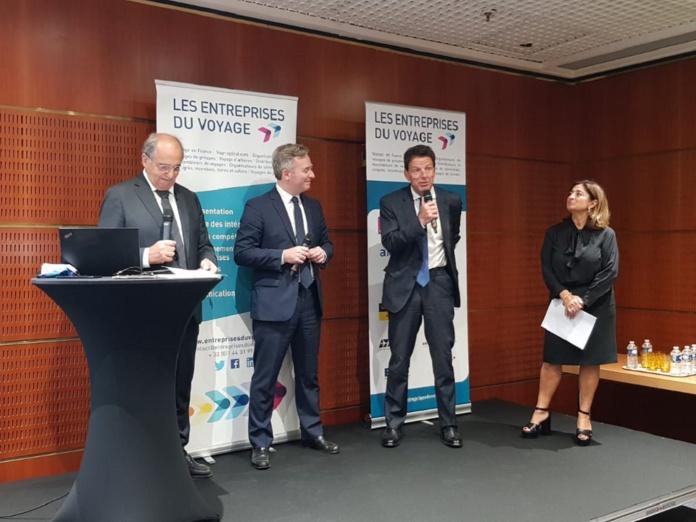 Geoffroy Roux de Bézieux, le président du Medef, est intervenu lors de l'AG des EDV, provoquant parfois quelques froids dans la salle au salon IFTM Top Resa - Crédit photo : CE