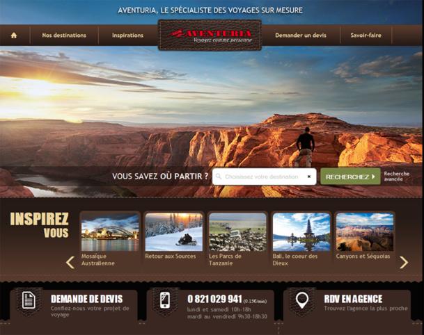 Le nouveau site Web d'Aventuria.