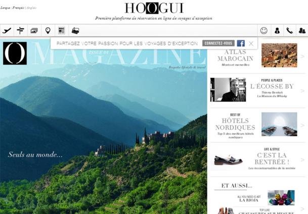 Hoogui est une plateforme qui permet de réserver de A-Z un voyage en ligne, grâce à des forfaits modulables - DR