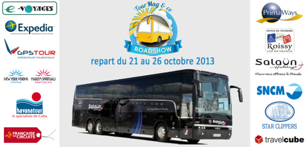 Le TourMaG&Co Roadshow débarquera dans 9 villes avec ses 12 partenaires du 21 au 26 octobre 2013.
