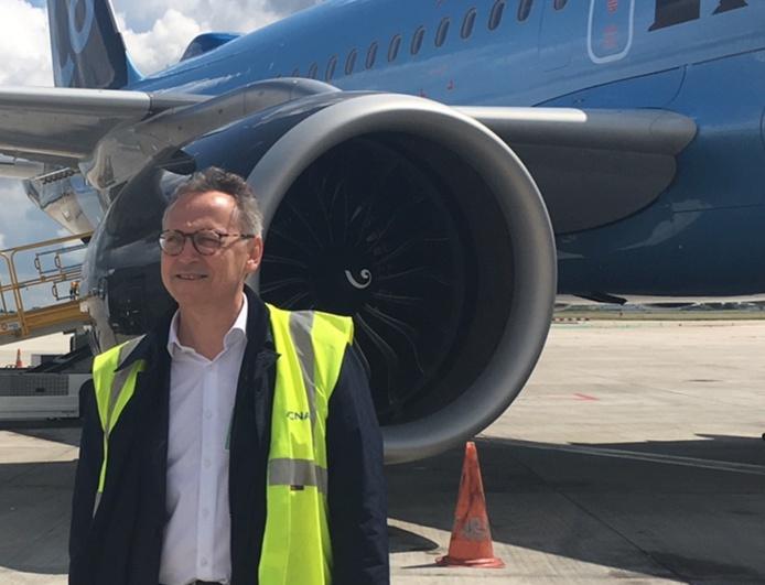 """Christian Vernet PDG de La Compagnie à propos du charter : """"Nous avons acquis un savoir-faire en la matière et la période covid a été en fait assez favorable à la privatisation de vols long-courriers avec nos avions long range"""" - Photo DR"""