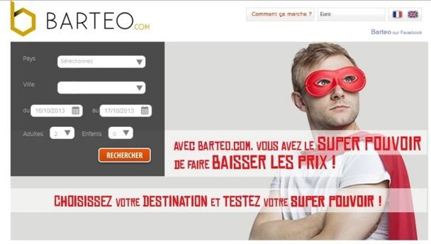 Barteo.com permet de négocier en quelques secondes le prix d'une chambre d'hôtel et d'économiser de 5 à 35%  sur la réservation.