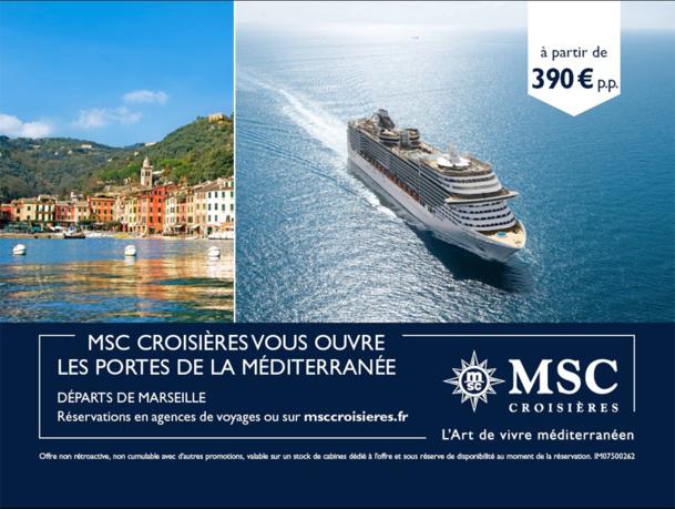 Visuel de la campagne de promotion lancée par MSC Croisières - DR