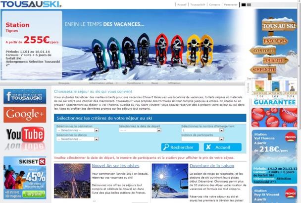 """Tousauski.fr Cette jeune entreprise souhaite faire bénéficier les vacanciers de prix bas toute l'année en lançant la """"garantie meilleur prix."""