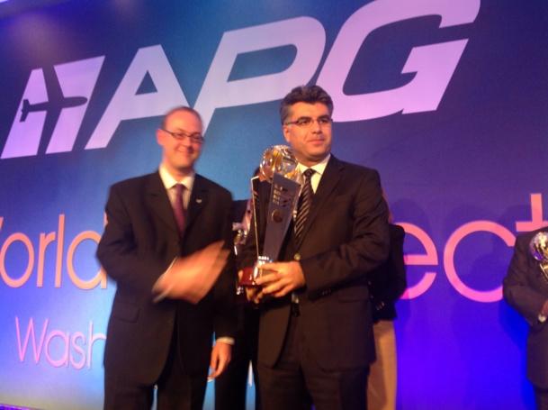 Huseyin Taaylga, VP Amérique et Europe de Turkish Airlines en compagnie de Richard Burgess, président d'APG Network