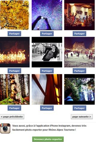 Photo-Reporters du Rhône-Alpes propose un flux de photographies pour les institutionnels du tourisme de la région - Capture d'écran