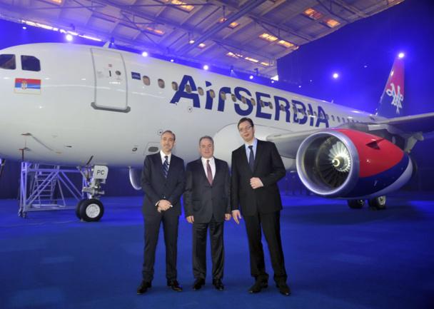 Décollage d'Air Serbia