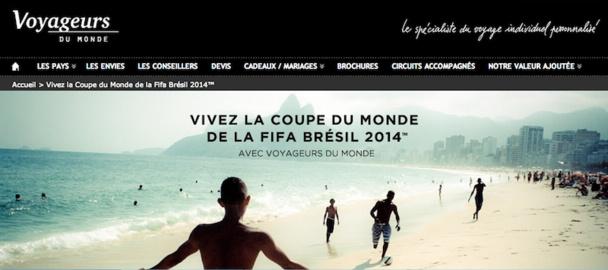 Voyageurs du Monde est le seul TO français autorisé à vendre des packages pour la coupe du monde de foot au Brésil. DR