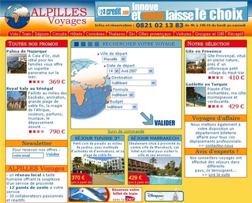 Le site Alpilles-Voyages.Com