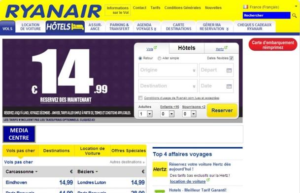 Ryanair a annoncé ses plans pour améliorer de manière significative son site web www.ryanair.com. Ces changements permettront d'améliorer davantage le service client.