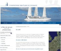 Compagnie des Iles du Ponant : le site Internet fait peau neuve