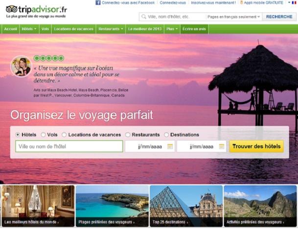 Les établissements touristiques ne peuvent désormais plus se passer d'une présence sur TripAdvisor - Capture d'écran