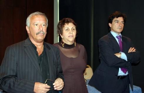 Christian Orofino (Europauli), Adriana Minchella (Présidente du CEDIV) et le responsable de la promotion de Madeira