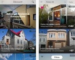Les applications mobiles de AirBnb sont disponibles au téléchargement sur Apple Store et Google Play - DR