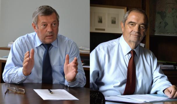 Roland Héguy, président de l'UMIH et Georges Colson, président du SNAV - DR