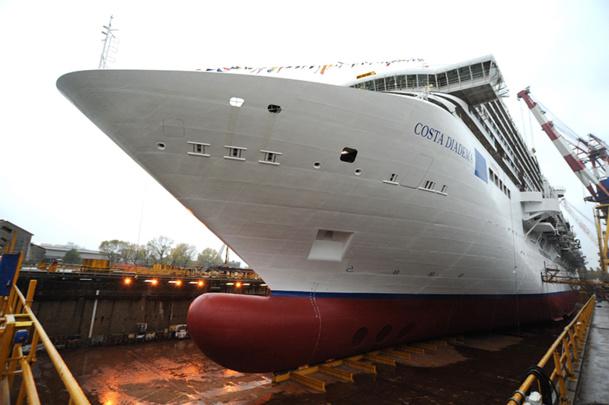 Mise à flot du Costa Diadema aux chantiers navals Fincantieri de Marghera - DR : Costa Crociere