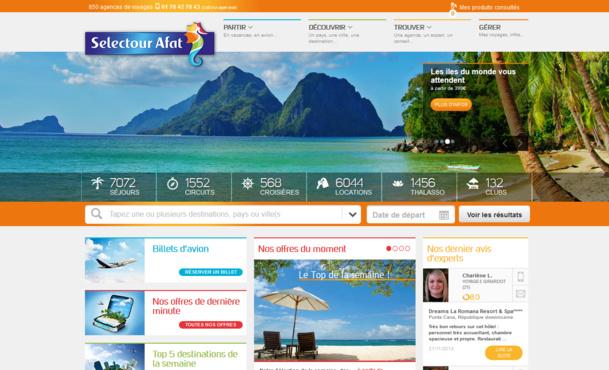 Le nouveau site Selectour-Afat.com qui sera lancé le 11 décembre prochain - DR