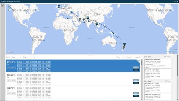 Les améliorations de la plateforme Travelport Smartpoint comprennent des options de cartographie interactives.