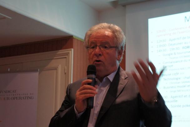 René-Marc Chikli, Président du SETO, présente le baromètre annuel du tour operating - DR