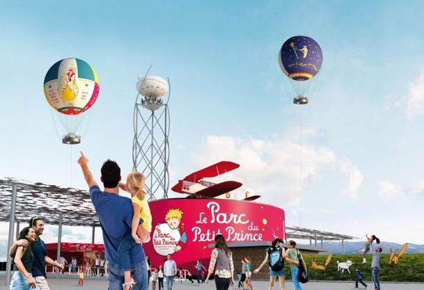 Le parc accueillera 3 salles de cinéma et 30 attractions parfois très spectaculaires, comme les 2 ballons captifs qui peuvent s'élever jusqu'à 150 m d'altitude - Photo DR