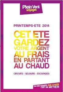 La brochure 2014 de Plein vent est actuellement envoyée aux agences de voyage - DR