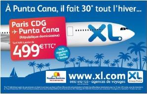 XL Airways met en place une campagne pour assurer la promotion de sa liaison entre Paris-CDG et Punta Cana - DR