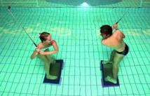 Programme spécial golfeurs à l'Alliance Pornic. Travail du swing dans l'eau.
