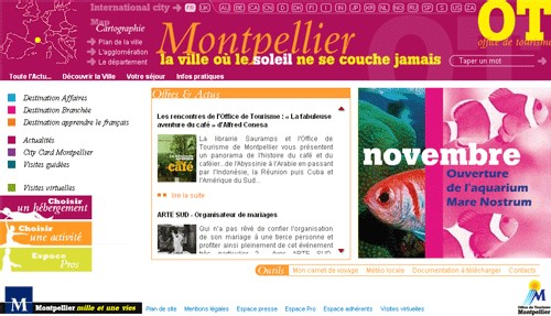 L'OT de Montpellier : nouvelle version du site Internet