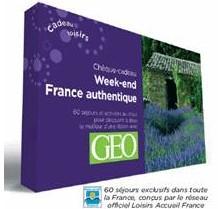 Géo labellise des chèques-cadeaux ''Week-end France authentique''