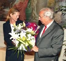 Didier Borotra, Sénateur-Maire de Biarritz, lors de la remise de médaille - photo Bernard