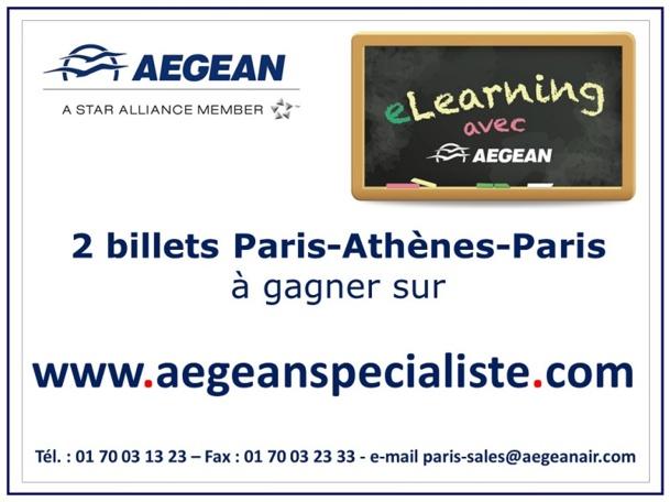 Pour ceux qui auront 100% de réussite, un tirage au sort sera fait le 31 mars. A la clef : deux billets Paris-Athènes aller-retour à gagner !