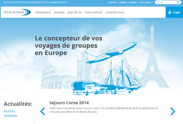 Le bénéfice de Travel Europe atteint 3 M € en 2013 - Capture d'écran