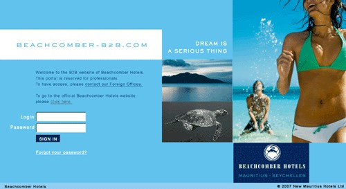 Beachcomber Hotels lance son site B2B