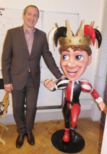 Denis Zanon et la mascotte du Carnaval de Nice - DR