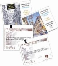 Troyes en Champagne : la promotion touristique sur les tickets de stationnement