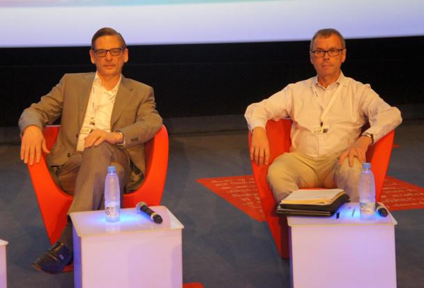 Jan Van Steen, président du BTO (Belge) et Michel de Blust, secrétaire général de l'ECTAA - DR