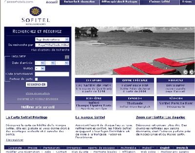 Sofitel.com a mis en place une nouvelle page d'accueil