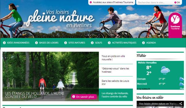 www.loisirs-yvelines.fr est le nouveau site grand public pour les loisirs de pleine nature dans les Yvelines - Capture d'écran