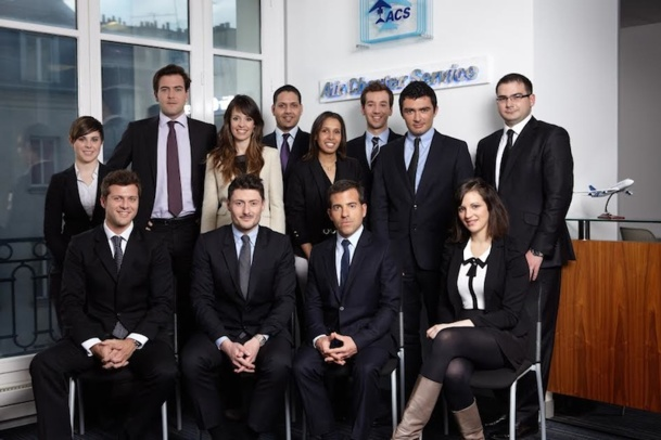 L'équipe d'Air Charter Service. DR