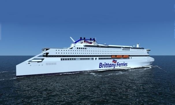 Pégasis, le prochain navire de Brittany Ferries sera le fer de lance d'une nouvelle génération de bateaux plus écologiques. DR