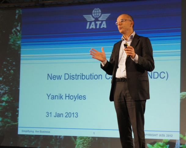 """Yanik Hoyles, directeur du programme NDC chez IATA : """"Nous n'allons pas réinventer la roue. Il s'agit plutôt d'une modernisation des canaux et standards de distribution qui ont aujourd'hui plus de 30 ans"""" - Photo CE"""