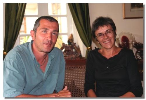 Franck Oukil, délégué commercial Sud Est et Béatrice Baconnais, managing director de Diethelm Travel et réceptif d'Asia à Rangoon